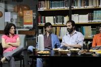 Mariana Pichinini, Guillermo Banzato y Patricio Lorente en la charla