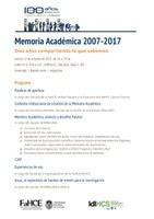 Diez años de Memoria Académica (2007-2017)