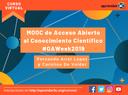 Actividad en la Semana Internacional de Acceso Abierto
