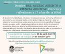 Abierta la convocatoria al dossier: Del Acceso Abierto a la Ciencia Abierta: avances y reflexiones a 17 años de la BOAI