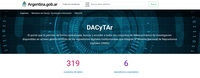 DACyTAr, el portal de datos abiertos del Mincyt